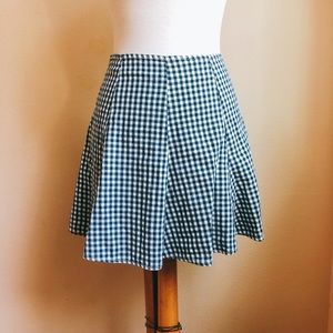 Paris Blues Gingham Skater Skirt